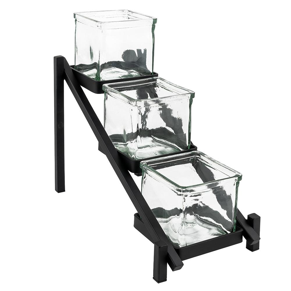 Cal-Mil 1149-13 3 Tier Jar Display - Glass Jars, Black