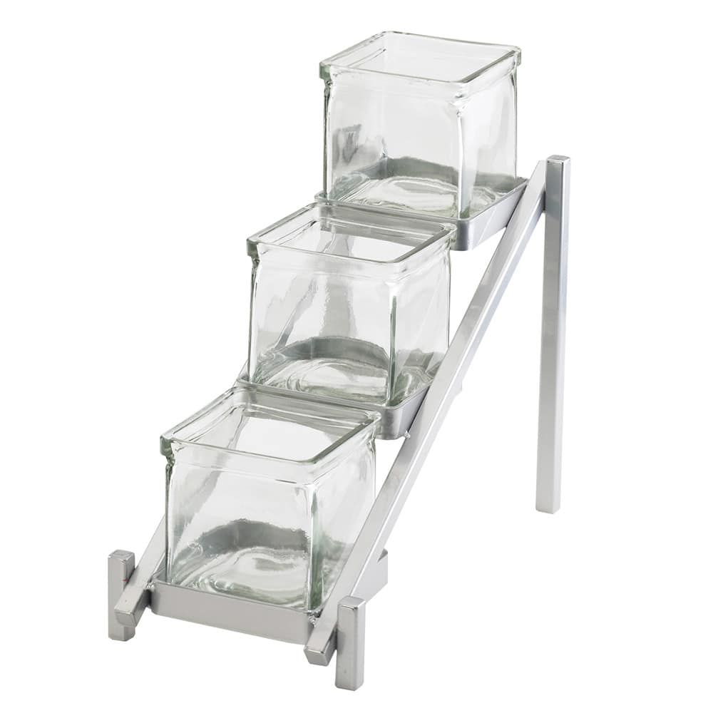 Cal-Mil 1149-74 3 Tier Jar Display - Glass Jars, Silver