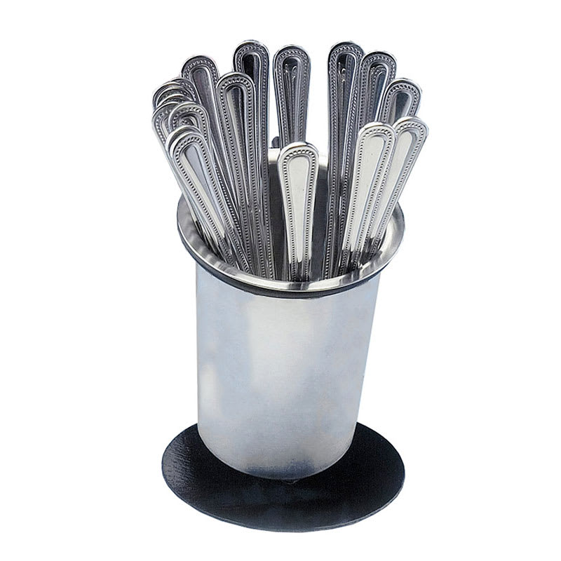 """Cal-Mil 1226-39-SOLID 6"""" Solid Cutlery Holder w/ Iron Silver Base"""