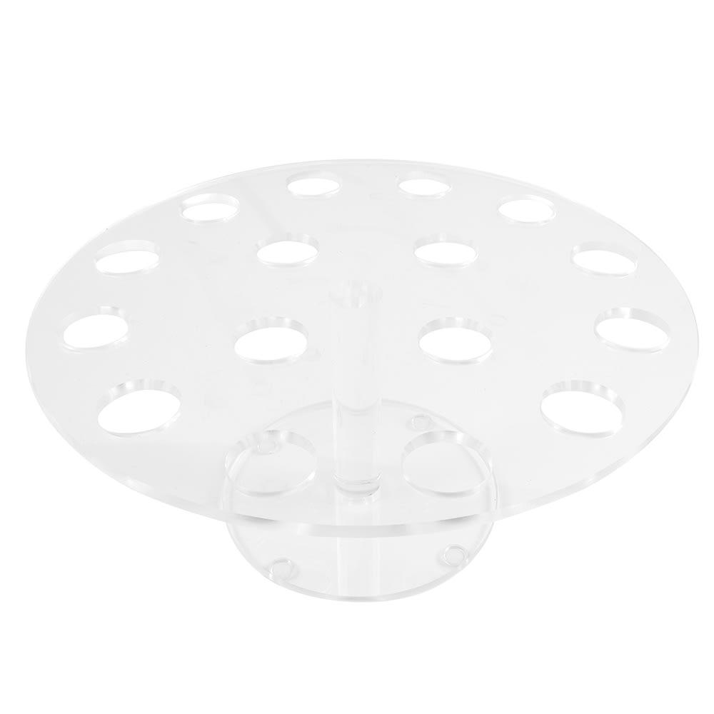 """Cal-Mil 1265 Clear Acrylic Cone Pedestal, 12"""" Diameter x 7"""" High"""