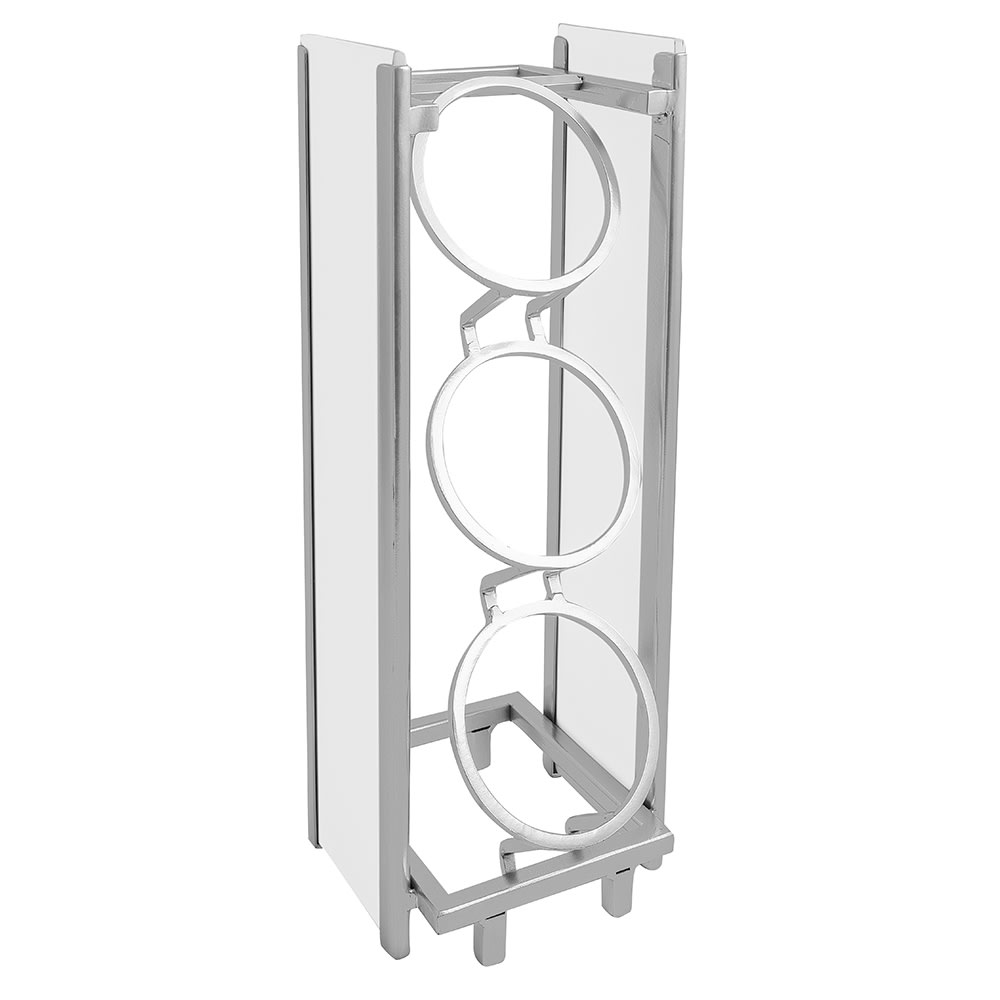 """Cal-Mil 1283-15 3 Section Flatware Cylinder Holder - 6.5""""W x 8""""D x 17""""H, Steel/White Wood"""