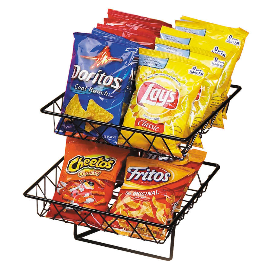 clip products rack red single display candy chip strip snack potato hanging