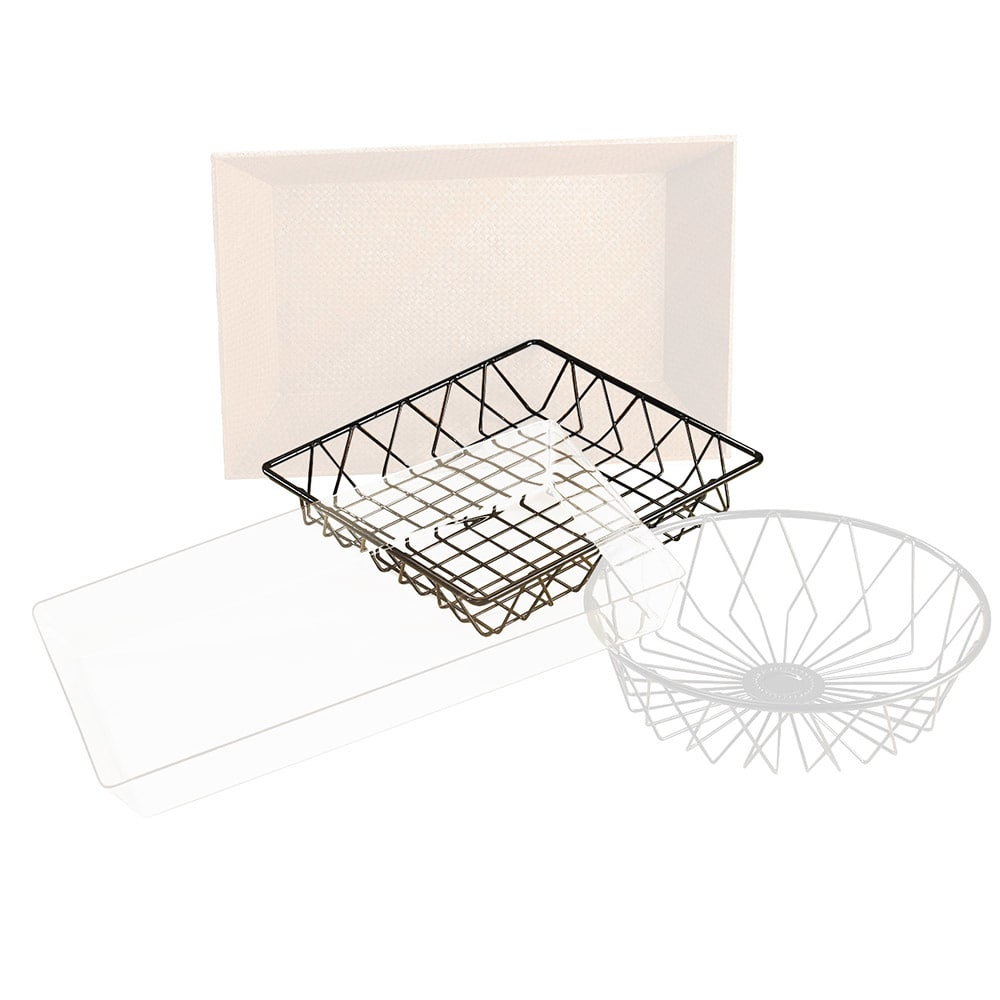"Cal-Mil 1293TRAY 12"" Square Wire Basket for 1293 Tray Rack"