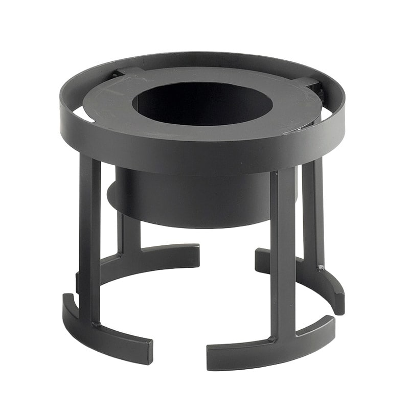 "Cal-Mil 1344-10-13 Round Chafer Alternative - 12-3/4x10"", Black"