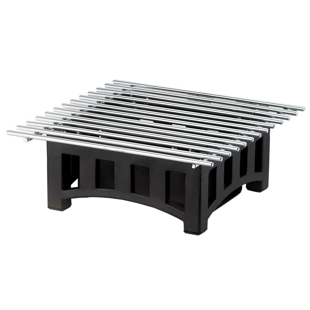 "Cal-Mil 1360-12-13 Bridge Style Square Chafer Alternative, 12 x 12 x 7.5"" H, Black"