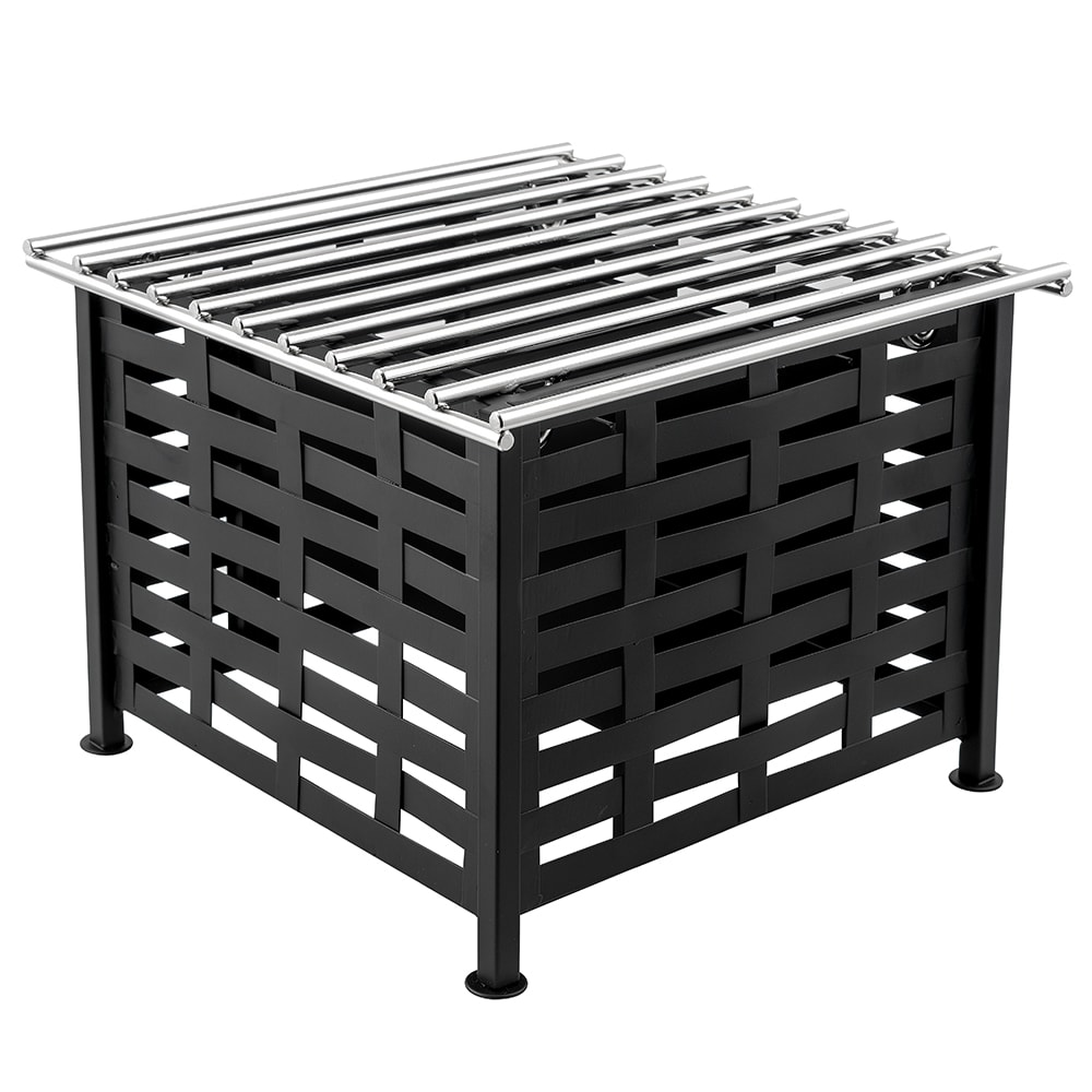 "Cal-Mil 1361-12 Lattice Style Square Chafer Alternative, 12 x 12 x 7.5"" H, Black"