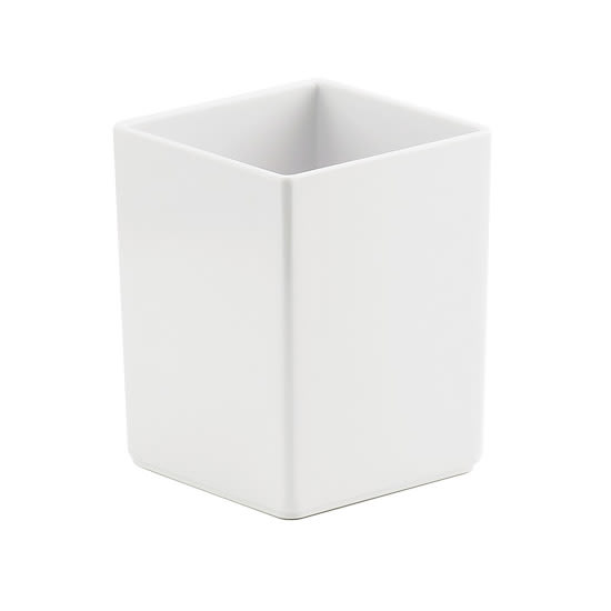 "Cal-Mil 1391-15M Cater Choice Box - 5x5x6"", Melamine, White"