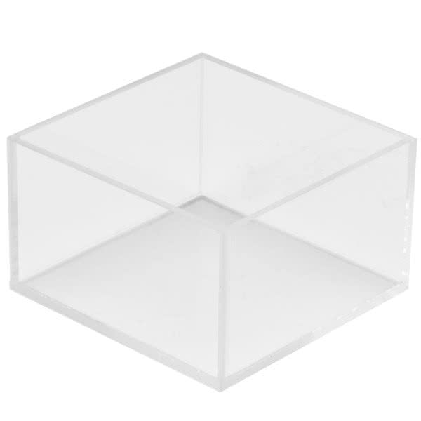 "Cal-Mil 1395-12 5"" Square Display Bowl - 3""H, Acrylic, Clear"