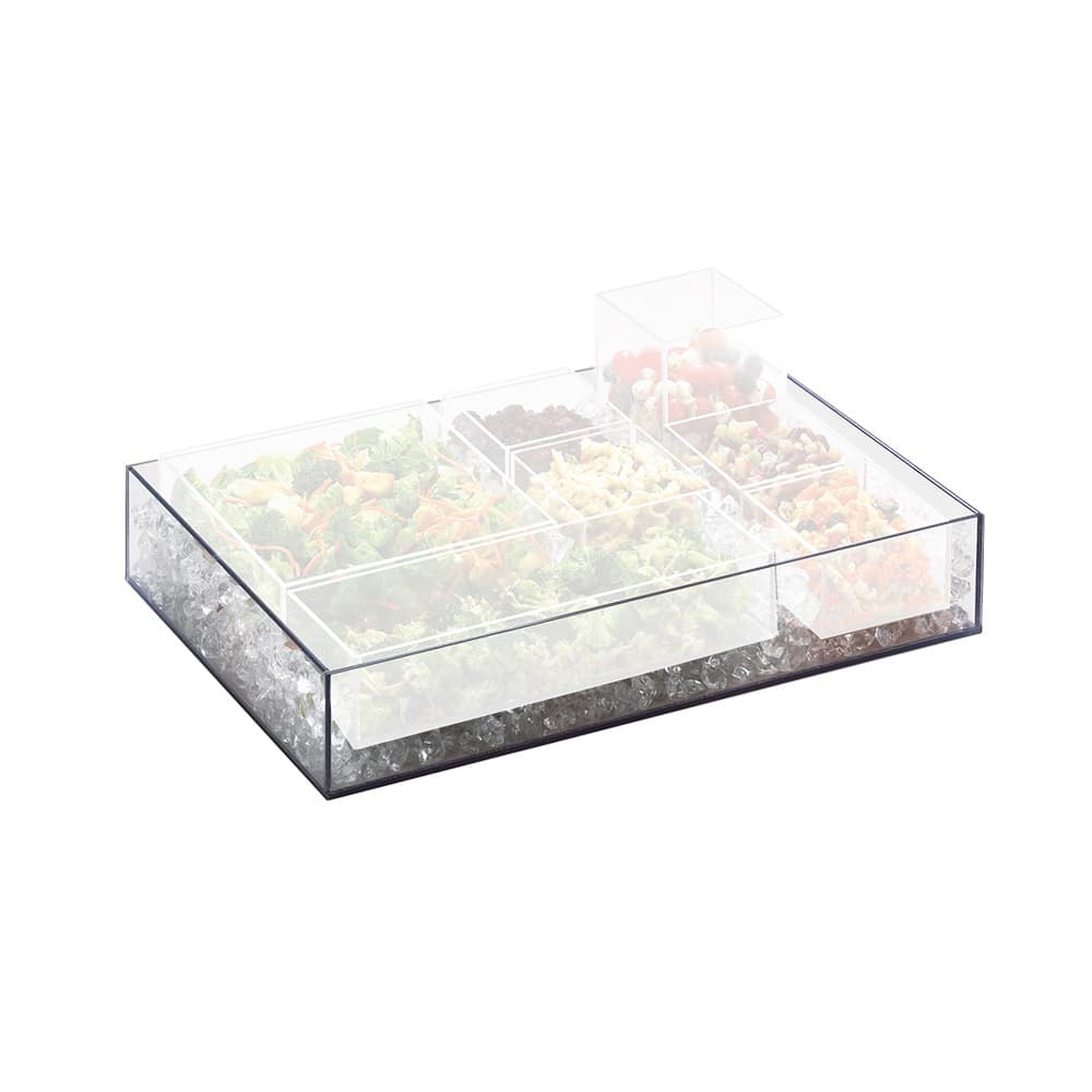 Cal-Mil 1397-12 Clear Cater Choice Tray for Cater Choice System, 20 x 7 x 3""