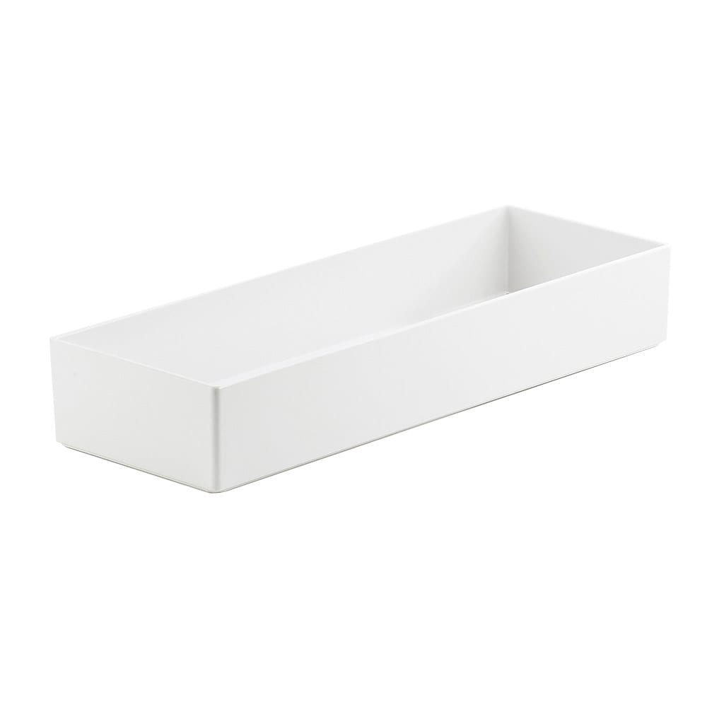 "Cal-Mil 1397-15M Cater Choice Box - 7x20x3"", Melamine, White"