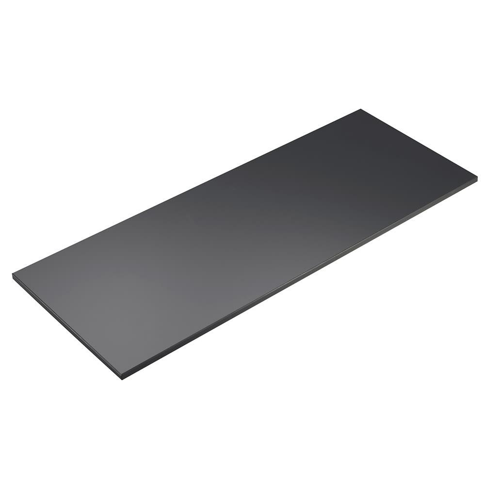 "Cal-Mil 1435-1248-96 Rectangular Tray Riser Shelf - 12x48"", Midnight Bamboo"