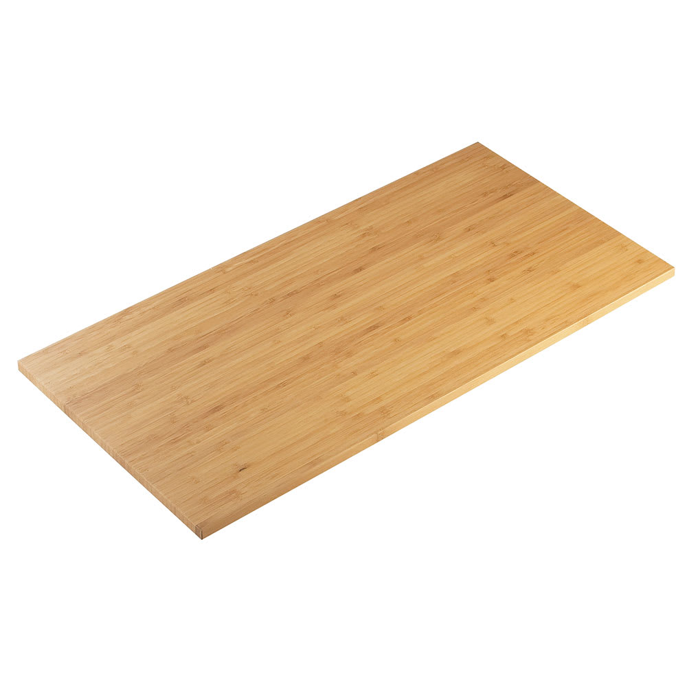"Cal-Mil 1435-1624-60 Rectangle Tray Riser Shelf - 16x24"", Bamboo"