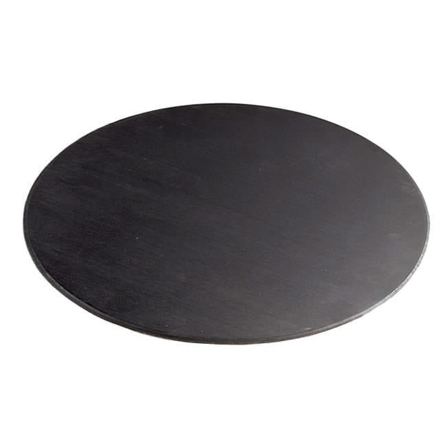 "Cal-Mil 1443-12-96 12"" Round Display Riser Shelf - Midnight Bamboo"