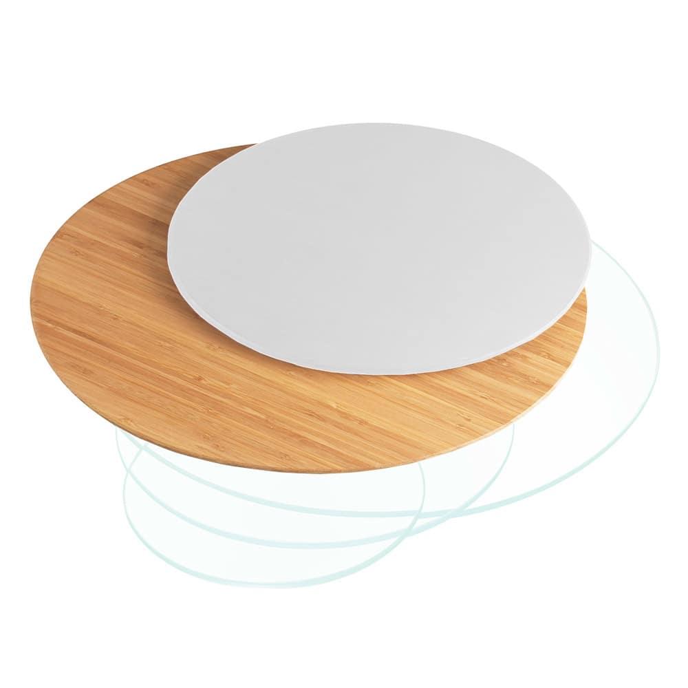 "Cal-Mil 1443-16-60 16"" Round Display Riser Shelf - Bamboo"