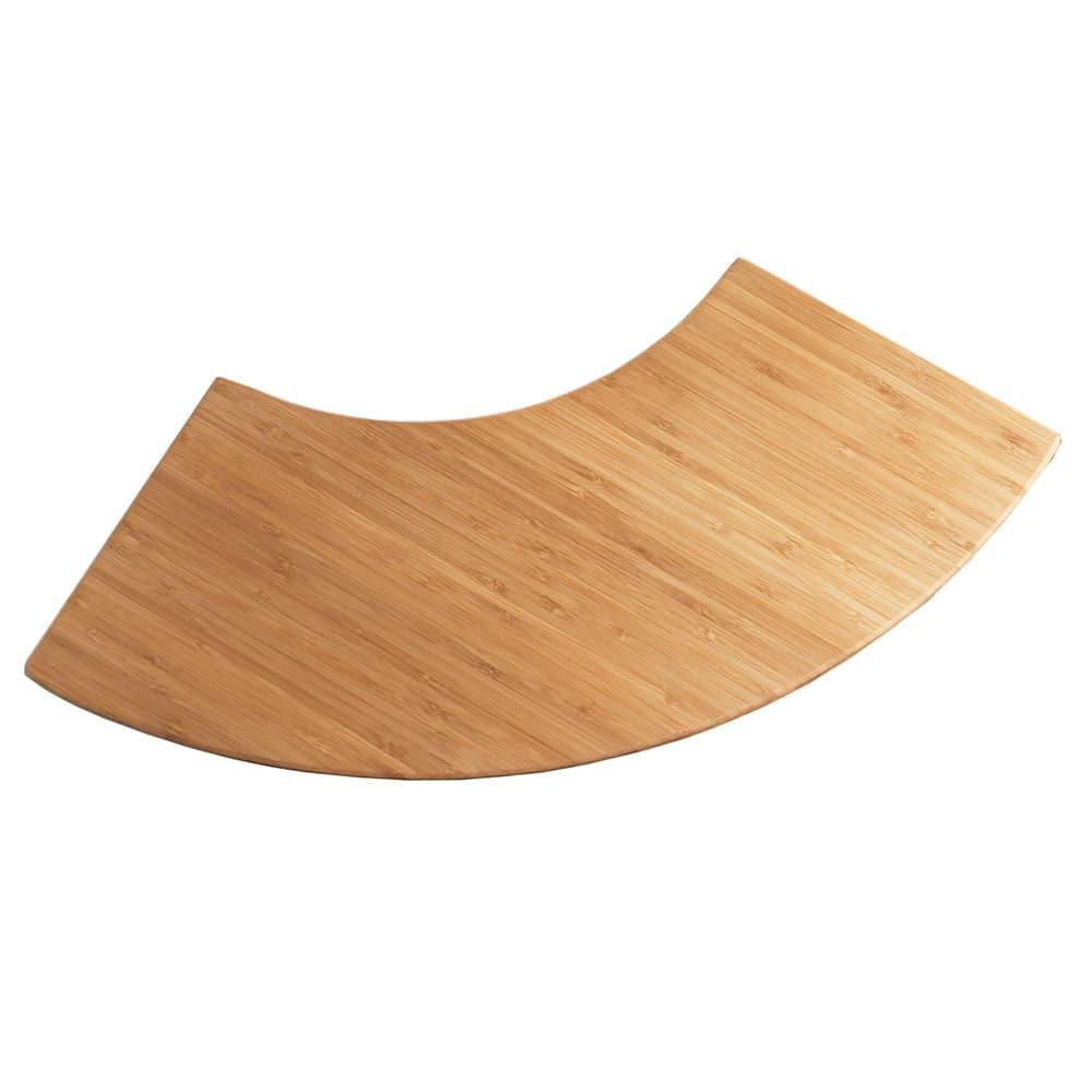"Cal-Mil 1444-16-60 16"" Curved Display Riser Shelf - Bamboo"