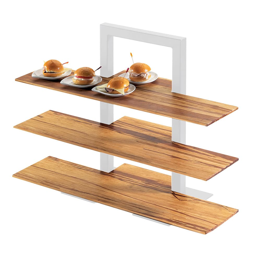 "Cal-Mil 1449-60 Frame Riser Shelves for Items 1464 and 1467 - 32x11 1/2"", Bamboo"