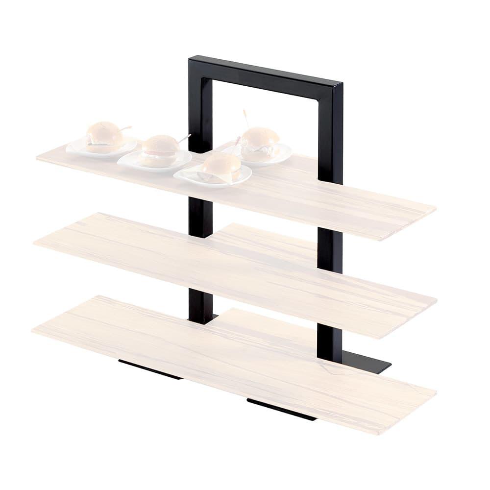 "Cal-Mil 1464-48 1 Piece Frame Riser w/ 3 Tiers, 18 x 11 x 25"" High, Brown"