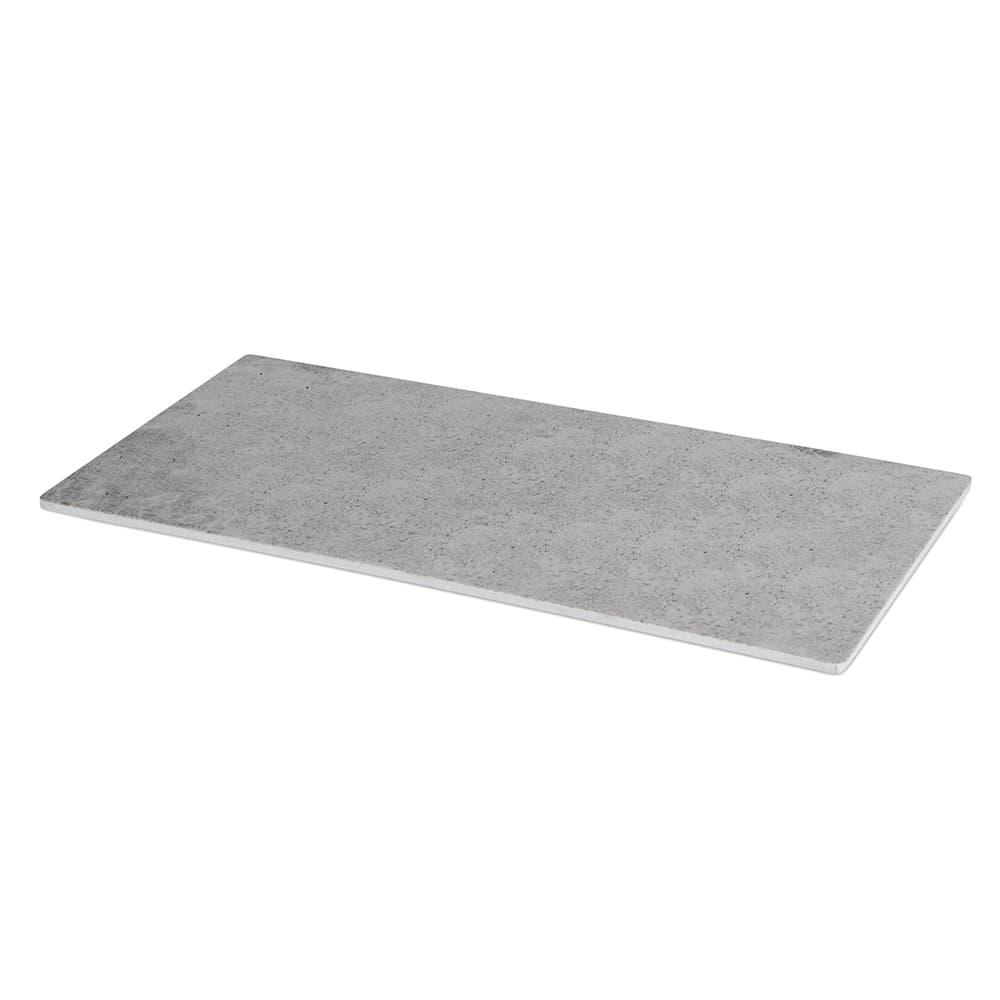 "Cal-Mil 1522-1020-77 Rectangular Serving Board - 20"" x 10"", Melamine, Faux Cement"
