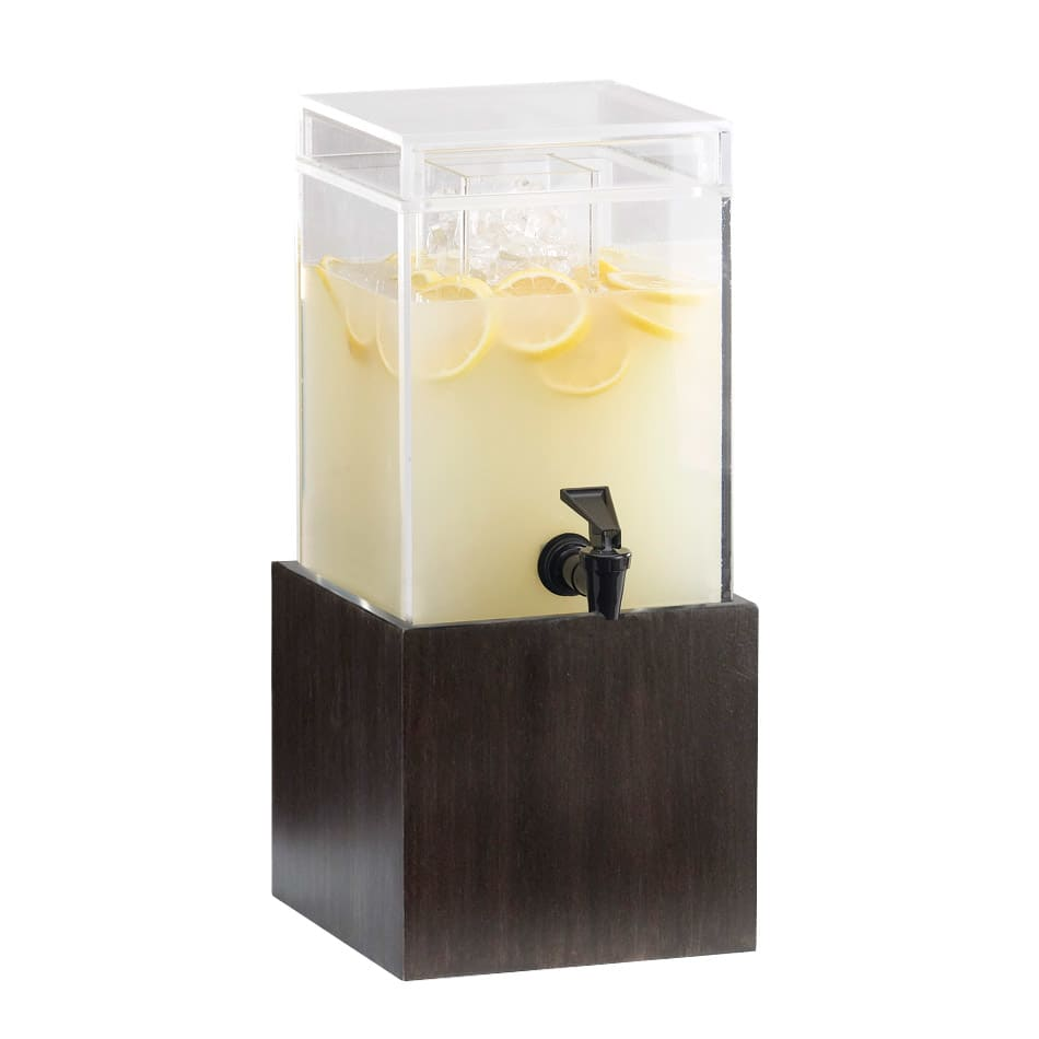 "Cal-Mil 1527-1-96 1 1/2 gal Square Beverage Dispenser - 1 1/2x8 1/4x9 3/4"", Midnight"