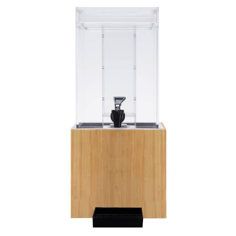 Cal-Mil 1527-1INF-60 1.5 gal Beverage Dispenser w/ Infusion Chamber - Plastic w/ Bamboo Base
