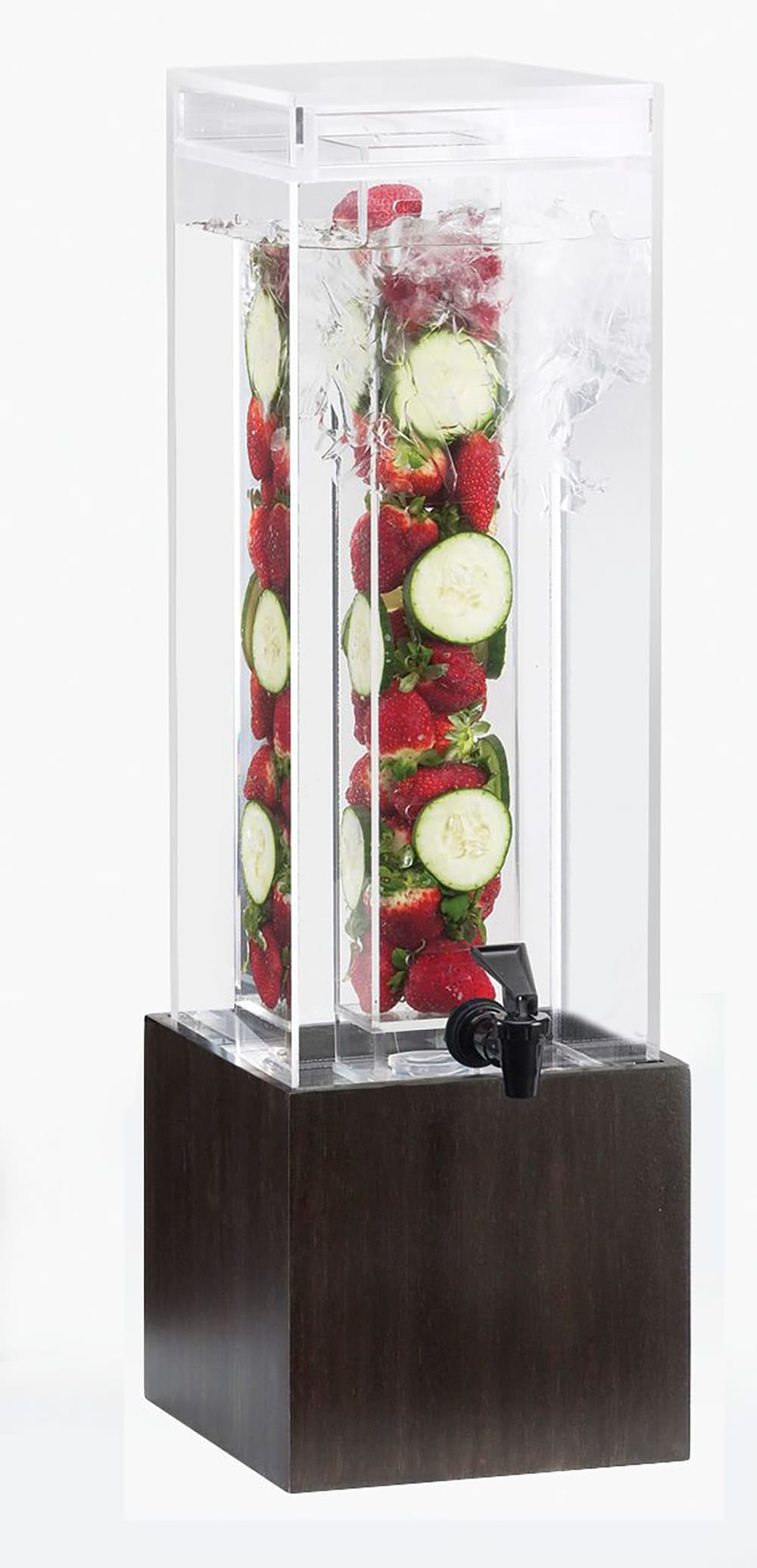 Cal-Mil 1527-1INF-96 1-1/2-gal Square Beverage Dispenser - Acrylic, Midnight