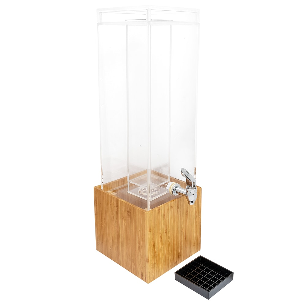 Cal-Mil 1527-3-60 3 Gal Beverage Dispenser, Bamboo, BPA Free