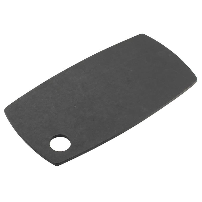 """Cal-Mil 1531-612-13 Flat Bread Serving Display Board w/ Round Corner, 12 x 6 x .25"""", Black"""