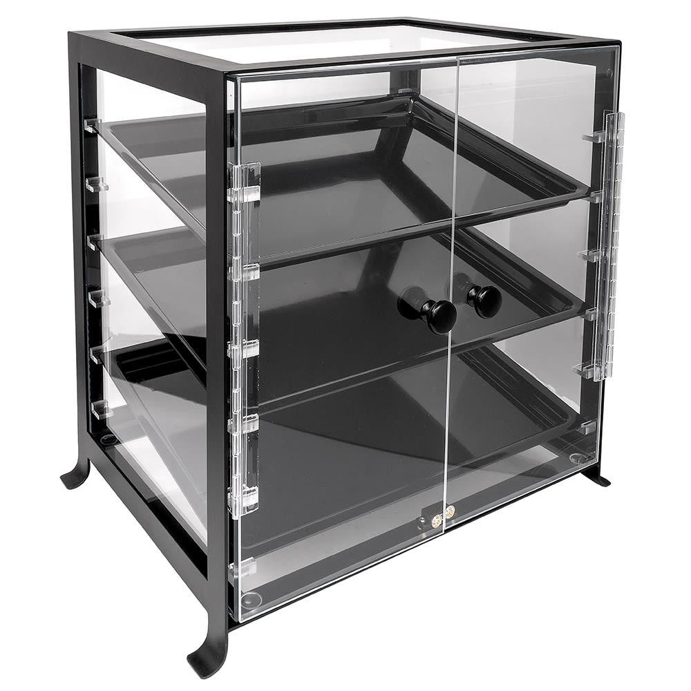 "Cal-Mil 1574-13 Soho Display Case - Attendant Serve, 17 1/4x12 3/4x20 3/4"", Black"
