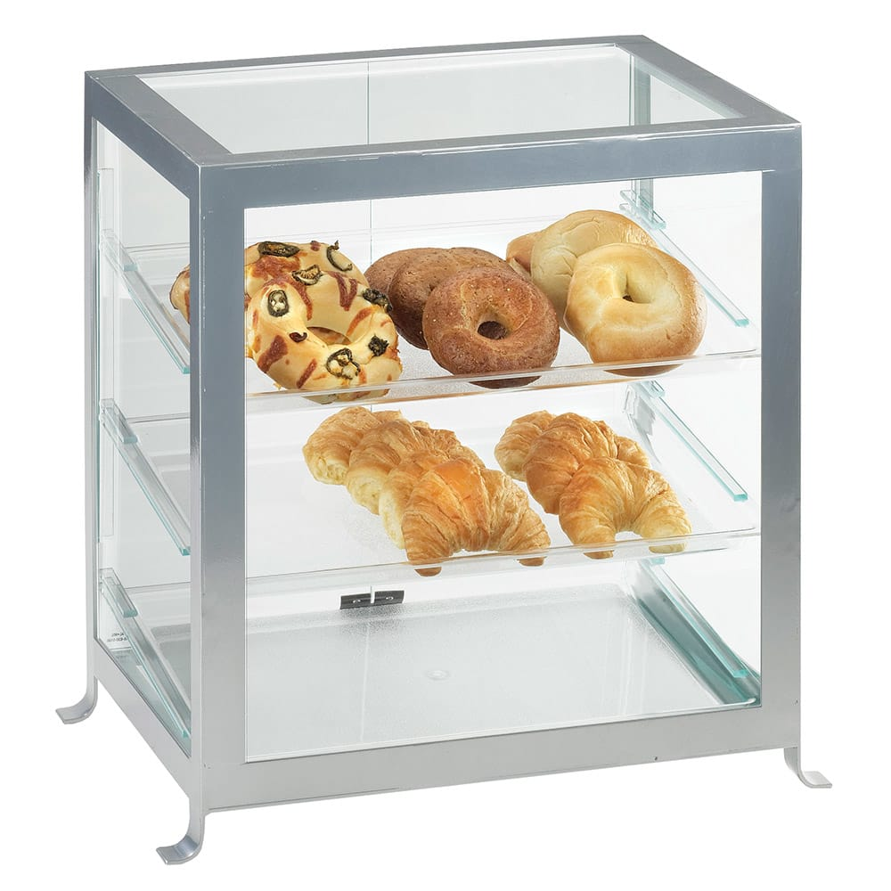 "Cal-Mil 1574-74 Soho Display Case - 17 1/4x12 3/4x20 3/4"", Silver"