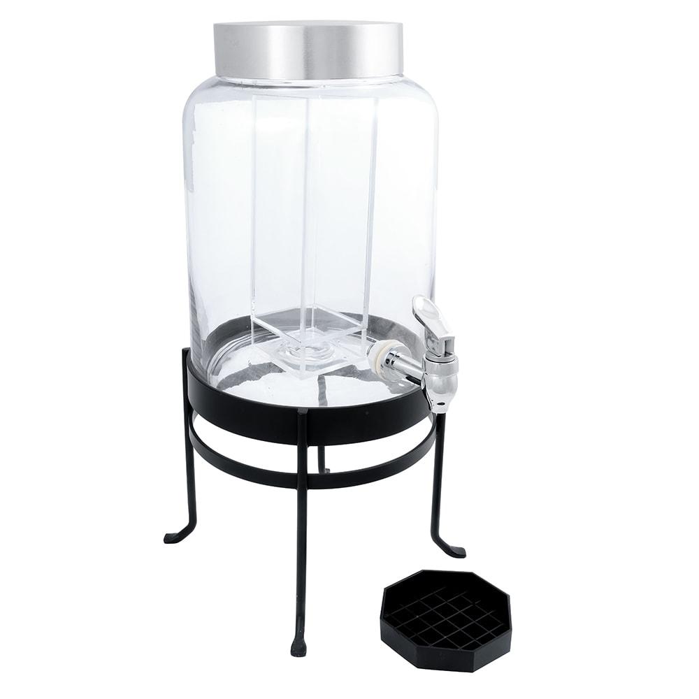 "Cal-Mil 1580-2-13 Glass Beverage Dispenser w/ Frame, 10 x 12 x 20.5"", Black"
