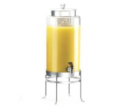Cal-Mil 1580-3-74 Beverage Dispenser w/ Glass & Silver Frame, 10 x 12 x 24.5""