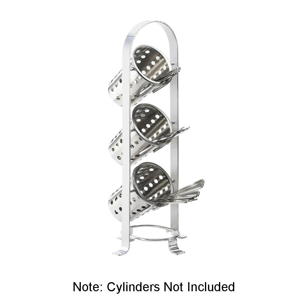 "Cal-Mil 1583-74 21"" 3-Section Cylinder Display - Metal, Silver"