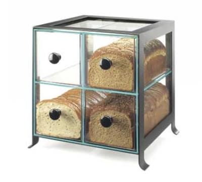 "Cal-Mil 1586-13 BPA Free Bread Case, 14 x 13 x 14.5"", Black"