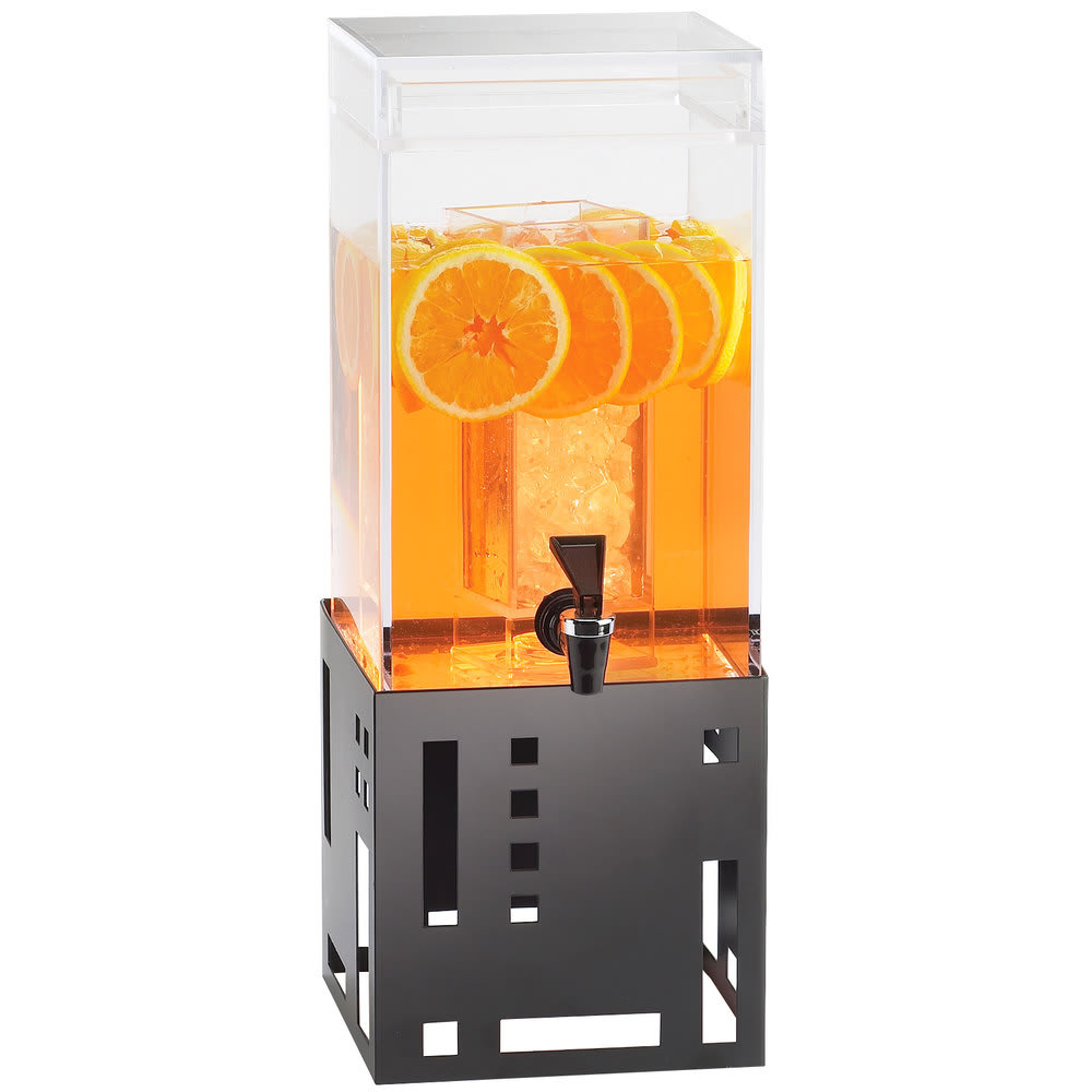 Cal-Mil 1602-1-13 1.5 gal Beverage Dispenser w/ Ice Chamber - Plastic w/ Black Metal Base