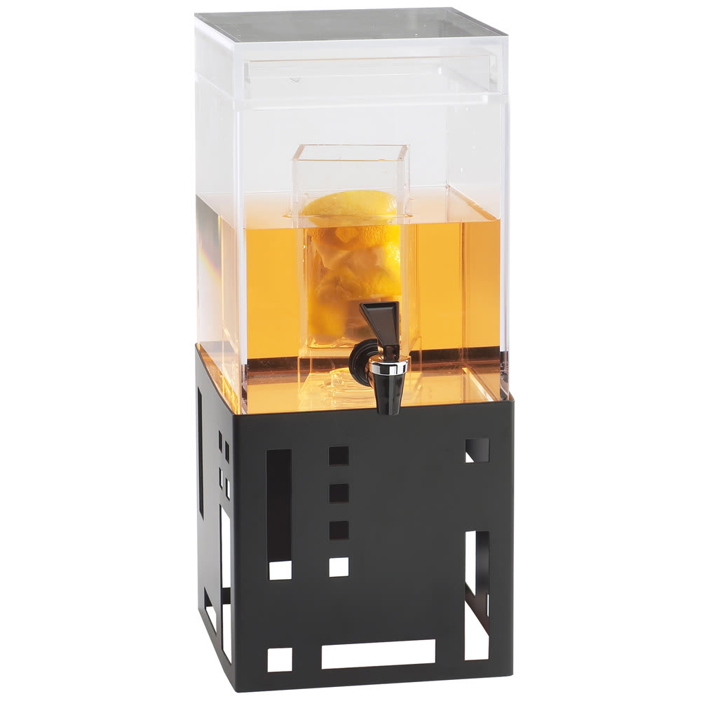 Cal-Mil 1602-1INF-13 1.5-gal Beverage Dispenser w/ Infusion Chamber - Plastic w/ Black Metal Base
