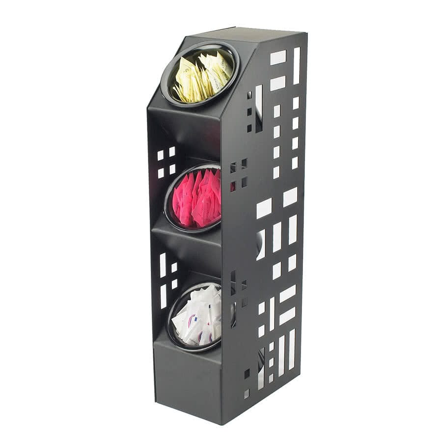 "Cal-Mil 1605-13 20.5"" 3 Section Cylinder Display - Metal, Black"