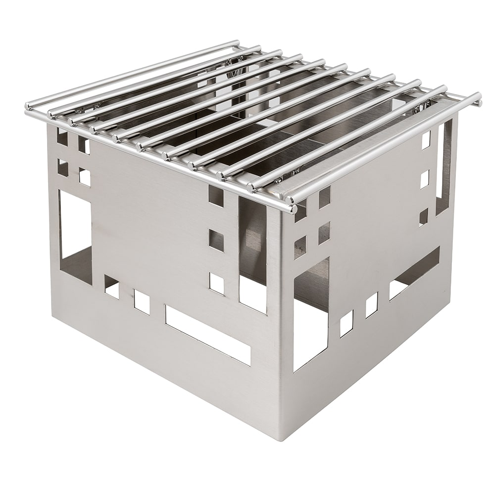 "Cal-Mil 1612-12-55 Squared Chafer Alternative, 12 x 12 x 7.5"", Stainless"