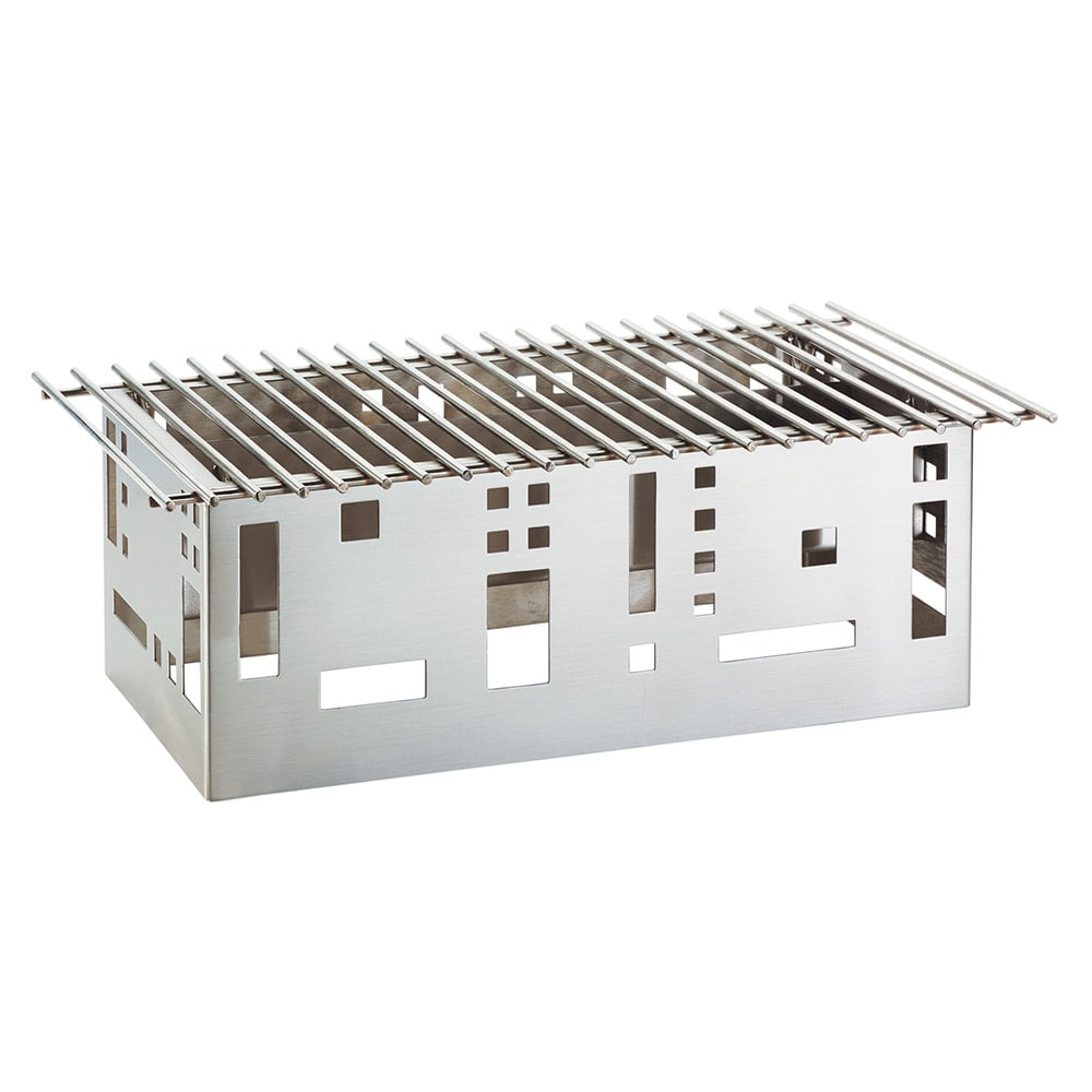 "Cal-Mil 1612-22-55 Squared Chafer Alternative, 12 x 15 x 11"", Stainless"