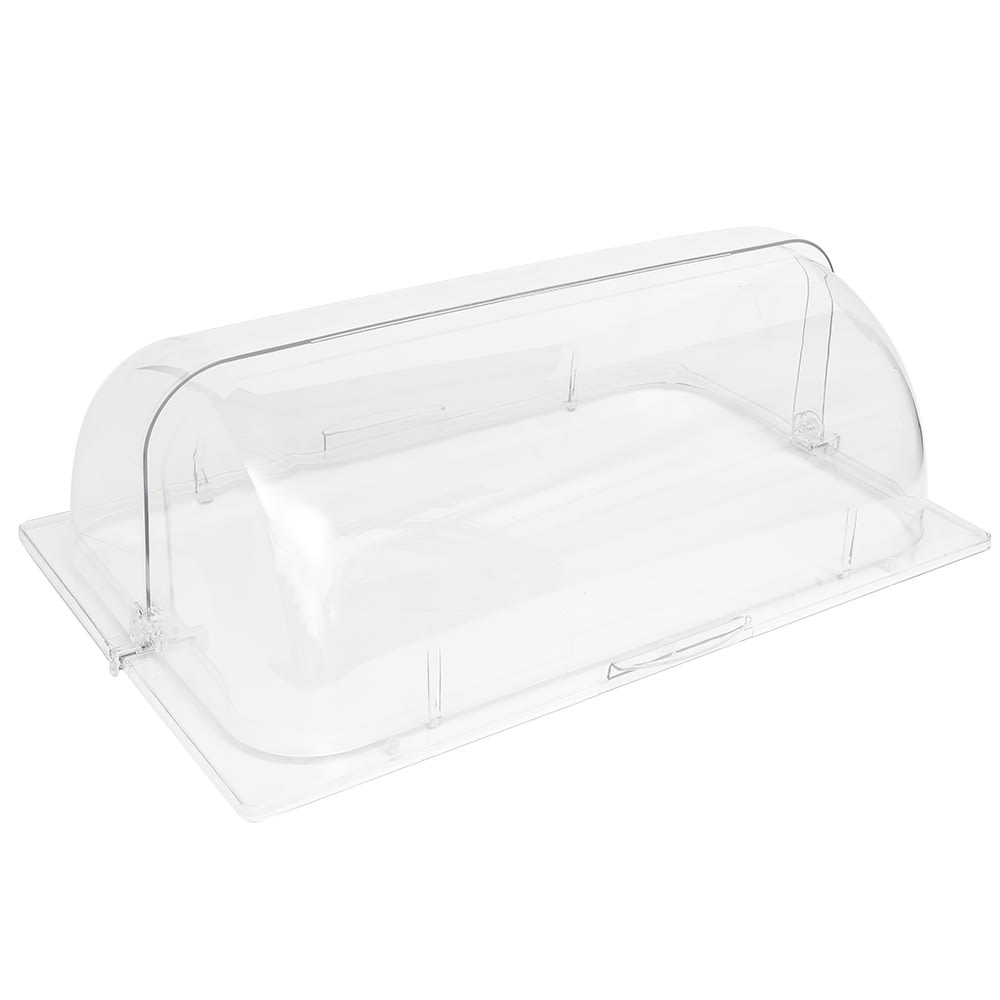 Cal-Mil 1703 Polycarbonate Cover w/ Roll Top, 12 x 20""
