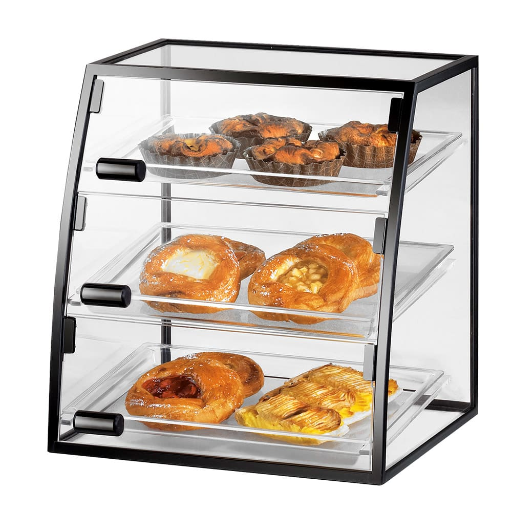 "Cal-Mil 1708-1318 Self Serve Cabinet w/ (3) 13 x 18"" Trays & 3-Front Doors, Wire"