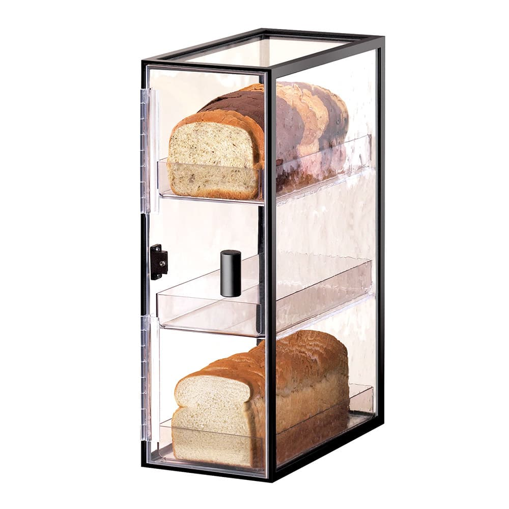 Cal-Mil 1720-3 3 Tier Vertical Bread Case w/ Wire Frame & Textured Acrylic Body