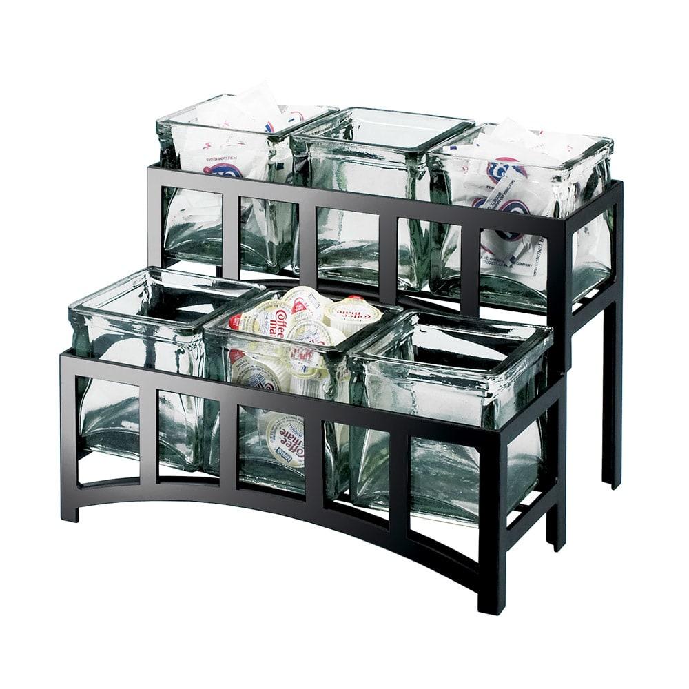 Cal-Mil 1723-39 2-Tier Mission Bridge Style Caddy - Silver