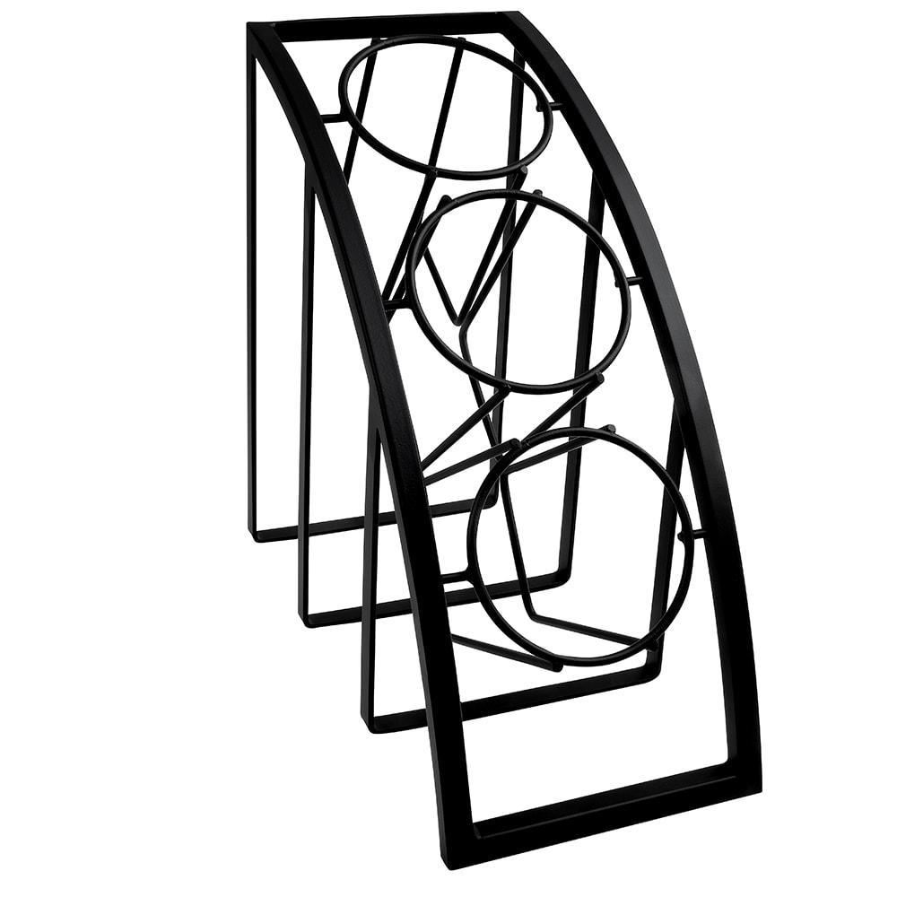 """Cal-Mil 1747-3-13 3 Tier Mission Style Frame for Crock & Cylinder, 13"""" H, Black"""