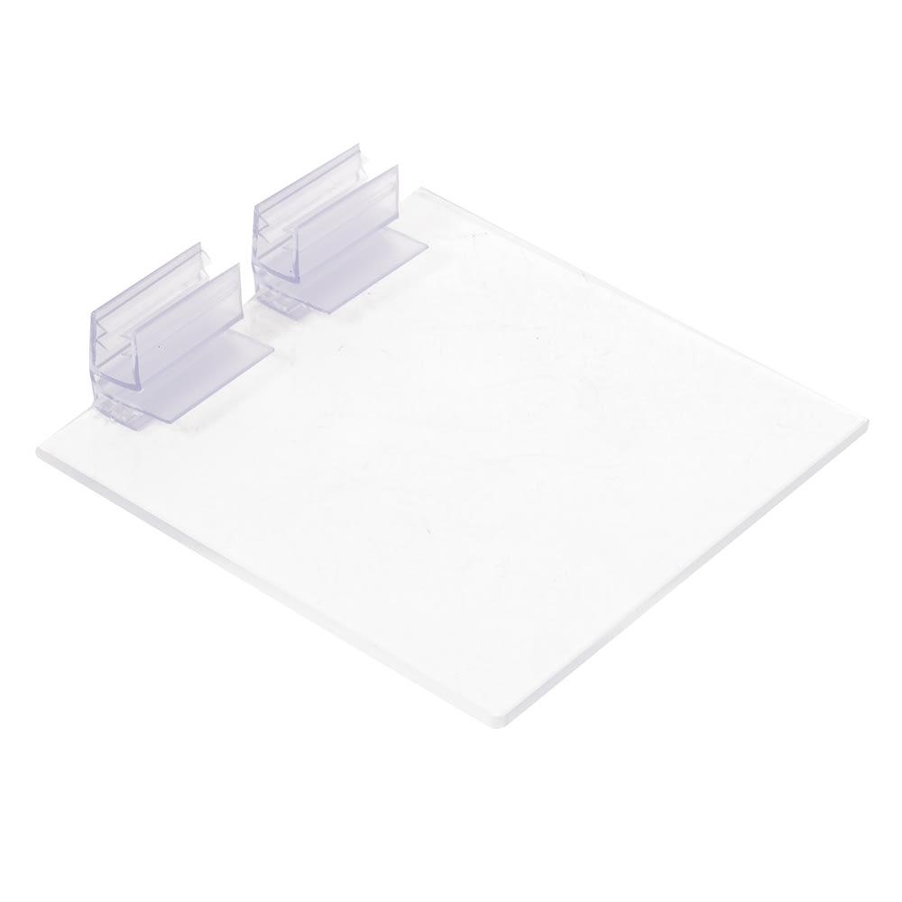 "Cal-Mil 1811 Solid Lids w/ Soft hinge for 4 x 4"" Glass Jars"