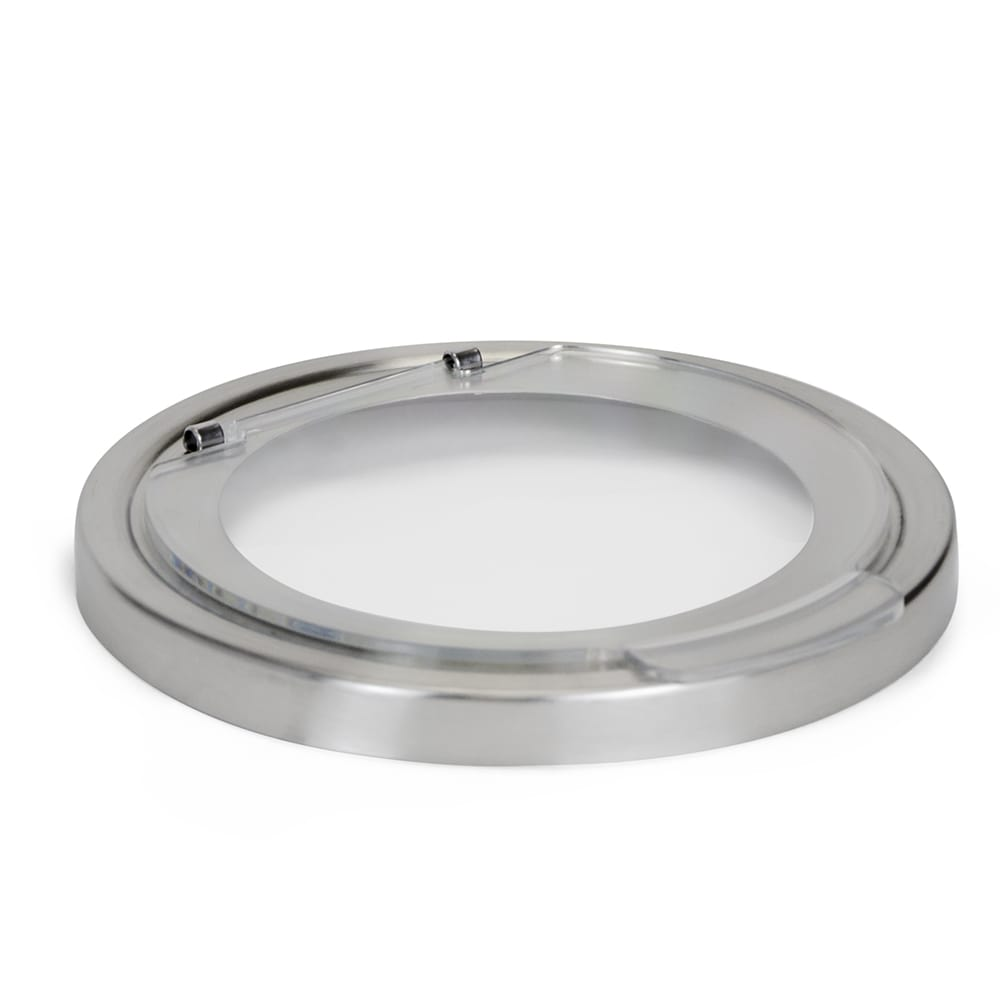 """Cal-Mil 1852-5 5.25"""" Round Hinged Lid for 1851 5 Mixology Jar, Stainless Steel"""