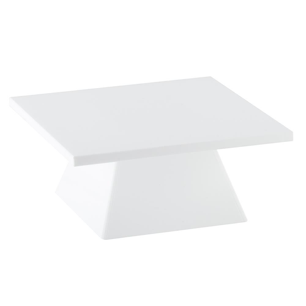 "Cal-Mil 1917-1-15 Square Pedestal Riser - 9x9x4-3/4"", White"