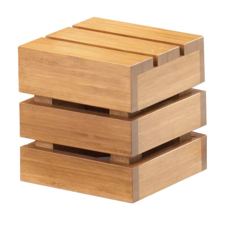 """Cal-Mil 1944-6-60 Square Crate Riser - 6"""", Bamboo"""