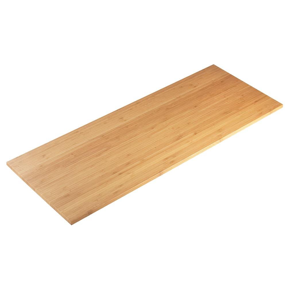 """Cal-Mil 1949-60 Angled Riser Shelf - 12x32"""", Bamboo"""