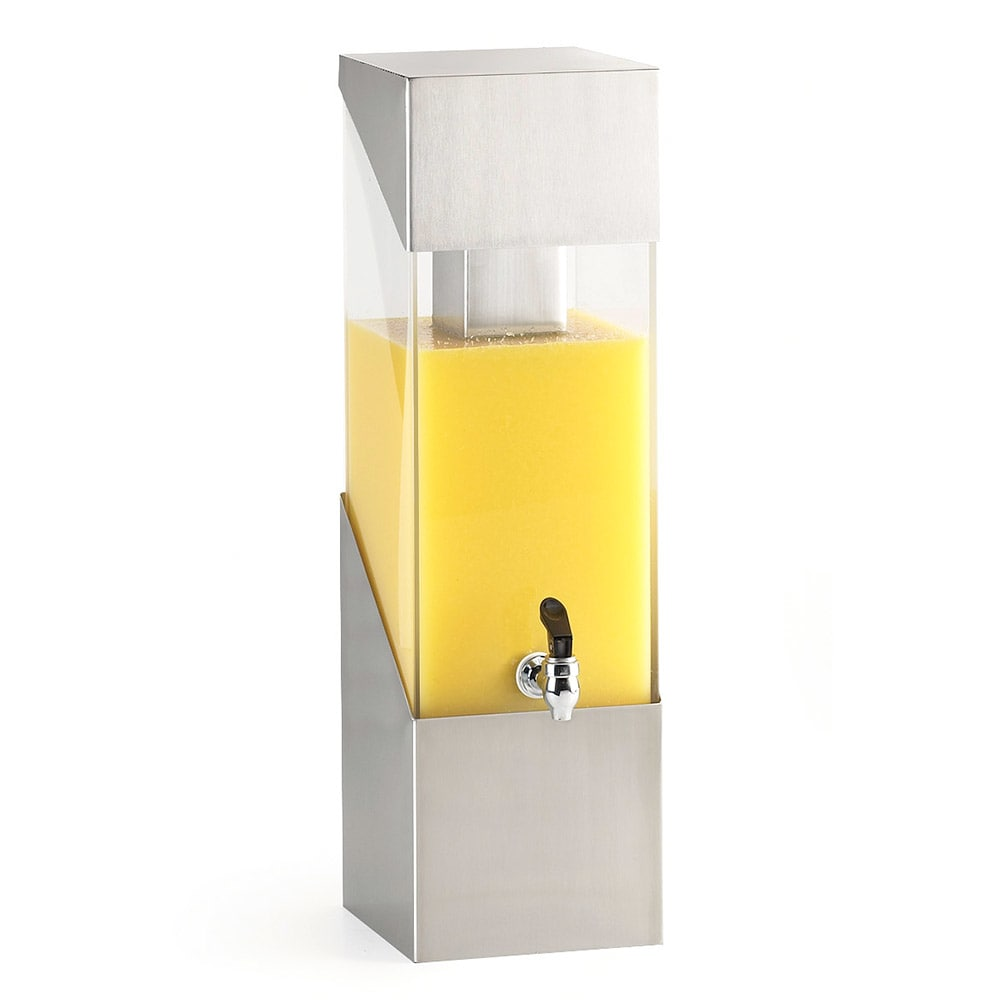 Cal-Mil 1991-3-55 3 gal Square Beverage Dispenser - Drip Tray, Stainless Steel
