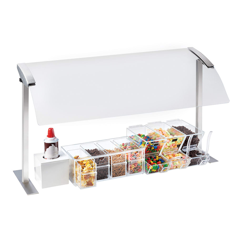 """Cal-Mil 2026-36-55 Sneeze Guard - Single, 37-1/4x16x20-3/4"""", Stainless Steel"""